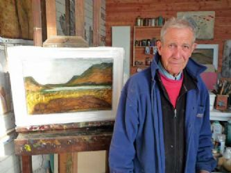 john emanuel in his porthmeor studio